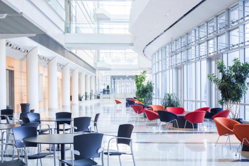 Skyscraper「Modern office lobby, cafeteria, Waiting Area」:スマホ壁紙(1)