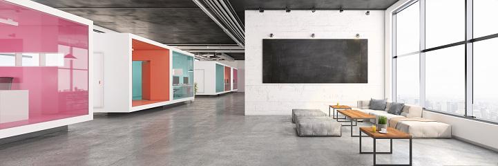 Corporate Business「Modern office lobby interior」:スマホ壁紙(12)
