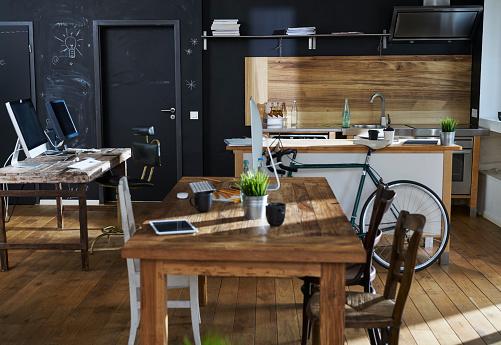 New Business「Modern office interior with kitchen」:スマホ壁紙(0)