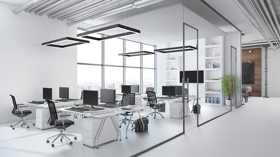 Finance and Economy「Modern office interior」:スマホ壁紙(14)