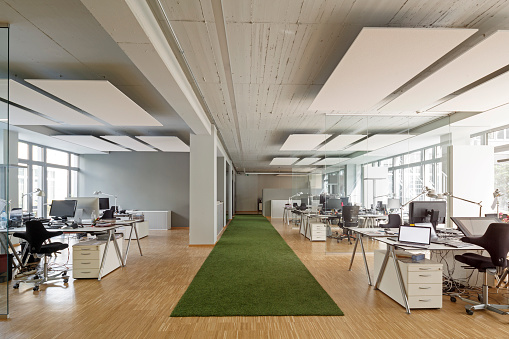 Open Plan「Modern office interior」:スマホ壁紙(12)