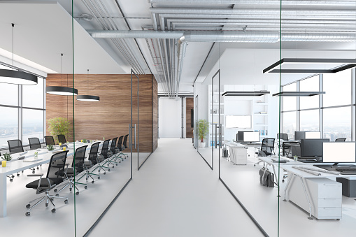 Finance and Economy「Modern office interior」:スマホ壁紙(0)
