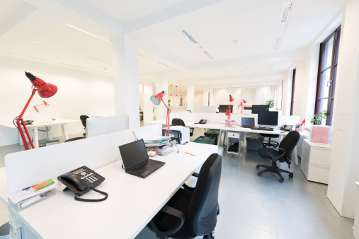 Open Plan「Modern Office Interior」:スマホ壁紙(9)