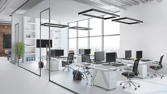 Absence「Modern office interior」:スマホ壁紙(9)
