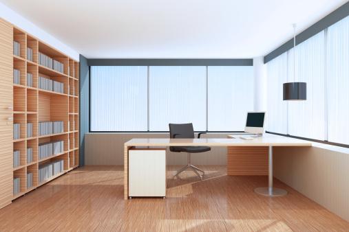 Home Office「Modern Office Interior」:スマホ壁紙(11)