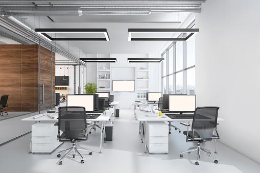 Open Plan「Modern office interior」:スマホ壁紙(5)