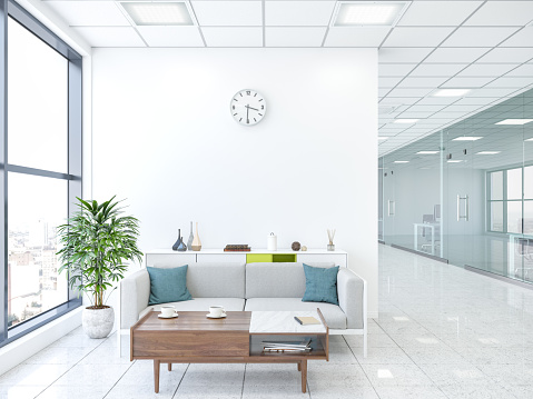 Clock「Modern office with lobby」:スマホ壁紙(11)
