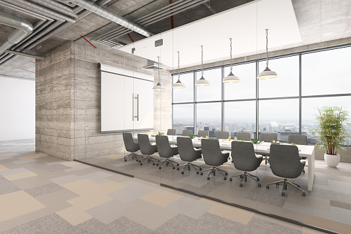 Template「Modern office conference room interior」:スマホ壁紙(17)