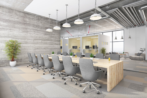 Open Plan「Modern office conference room interior」:スマホ壁紙(8)