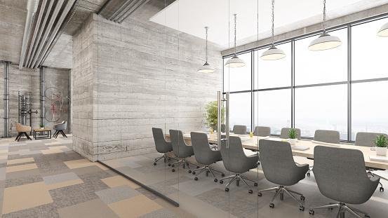 Pastel「Modern office conference room interior」:スマホ壁紙(14)