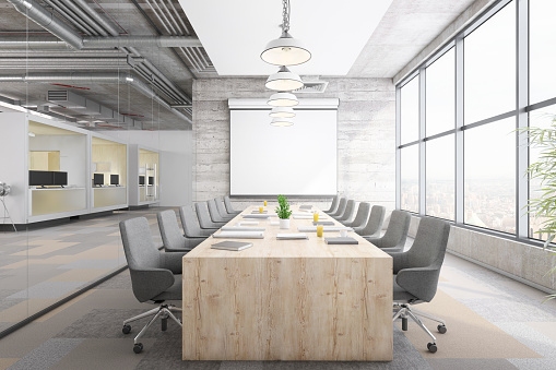 Template「Modern office conference room interior」:スマホ壁紙(3)