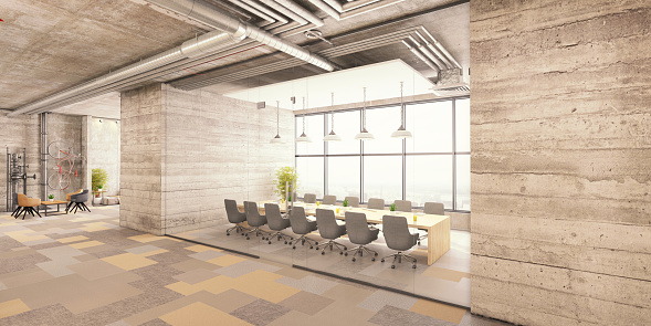 Open Plan「Modern office conference room interior」:スマホ壁紙(12)