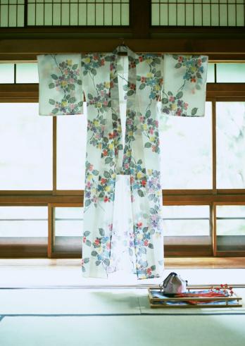 Hanging「Japanese summer kimono(Yukata)」:スマホ壁紙(10)