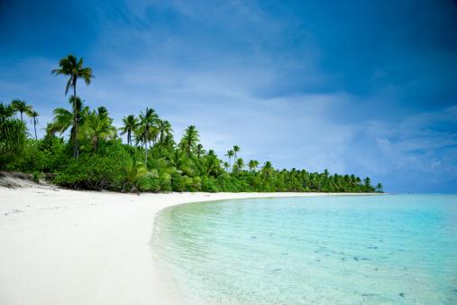 アイツタキ島「夢のビーチアイツタキ 1 つの島のクック諸島」:スマホ壁紙(11)