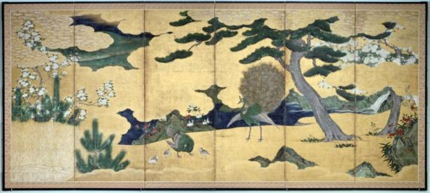 Edo Period「Edo Period Japanese screen」:スマホ壁紙(17)