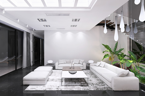 Ceiling「Modern luxury villa interior」:スマホ壁紙(10)