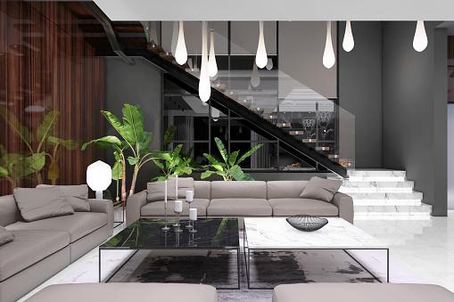 Jewelry「Modern luxury villa interior」:スマホ壁紙(17)