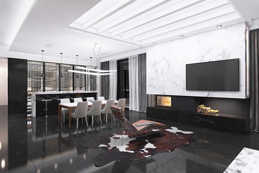 Granite - Rock「Modern luxury villa interior」:スマホ壁紙(11)