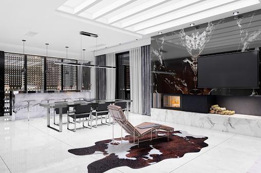 Pendant「Modern luxury villa interior」:スマホ壁紙(9)