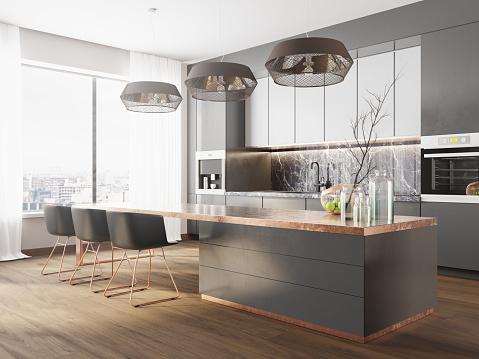 Comfortable「Modern luxury kitchen」:スマホ壁紙(14)