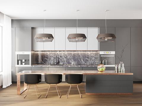 Front View「Modern luxury kitchen」:スマホ壁紙(18)