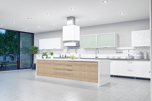 Island「Modern Luxury Kitchen Interior」:スマホ壁紙(1)