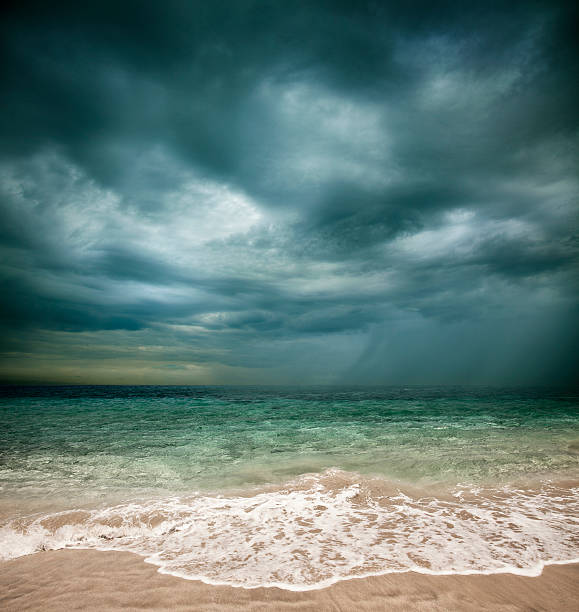 Stormy beach:スマホ壁紙(壁紙.com)