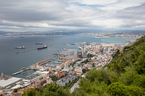 Peninsula「Gibraltar, view to city and Mediterranean Sea from above」:スマホ壁紙(7)