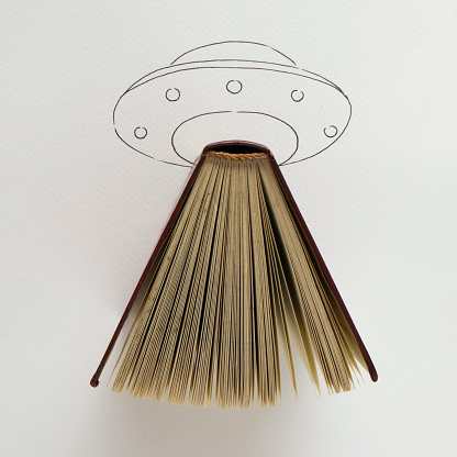 Mixed Media「Conceptual UFO spaceship landing」:スマホ壁紙(5)