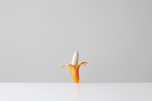 Orange - Fruit「Conceptual banana in an orange skin」:スマホ壁紙(14)