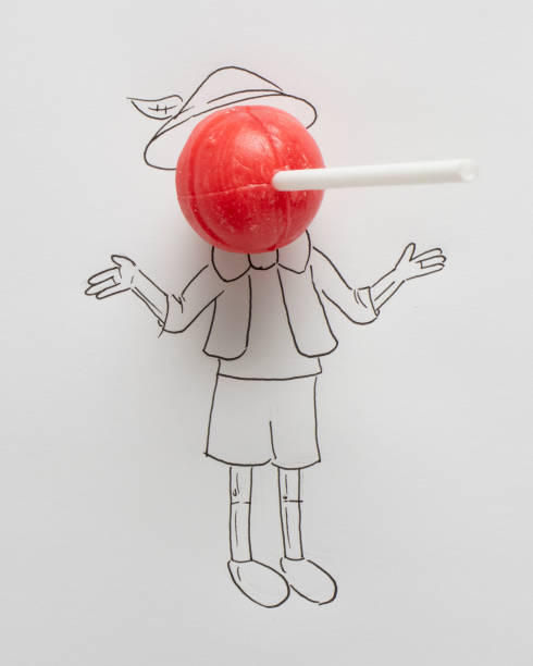 Conceptual boy with a long nose:スマホ壁紙(壁紙.com)