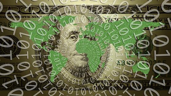 サイバー「conceptual money and internet technology」:スマホ壁紙(19)