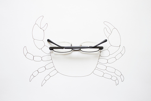 Eyeglasses「Conceptual drawing of a crab」:スマホ壁紙(6)