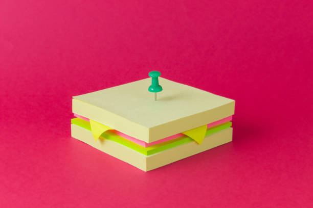 Conceptual sandwich made from sticky notes:スマホ壁紙(壁紙.com)