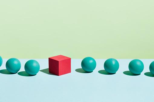 Individuality「Conceptual image of geometric blocks」:スマホ壁紙(6)