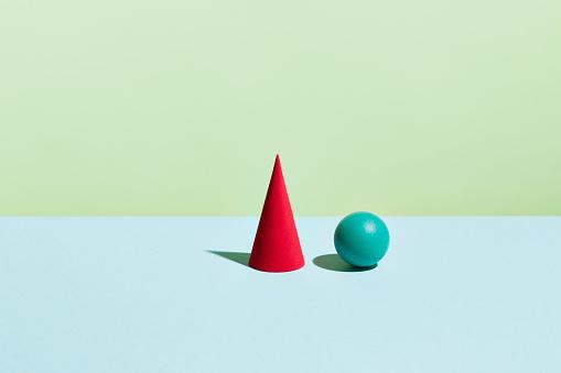 Two Objects「Conceptual image of geometric blocks」:スマホ壁紙(9)