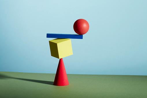 Green Background「Conceptual image of geometric blocks」:スマホ壁紙(15)