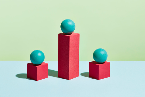 Green Background「Conceptual image of geometric blocks」:スマホ壁紙(14)