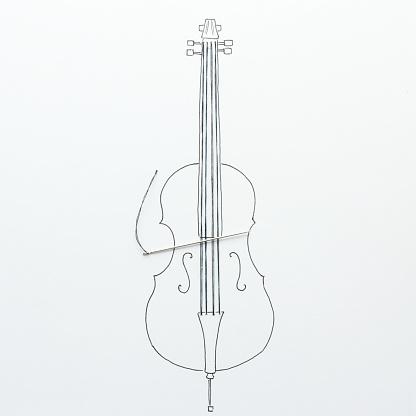 Bass Instrument「Conceptual double bass」:スマホ壁紙(4)