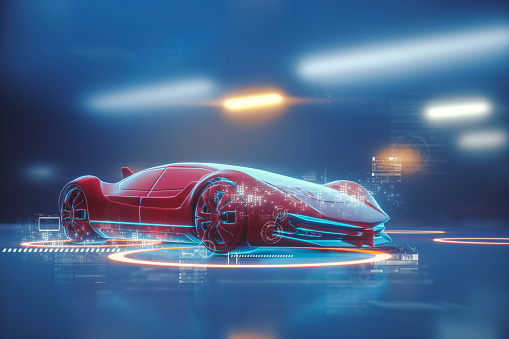 Technology「Conceptual generic futuristic sports car」:スマホ壁紙(1)