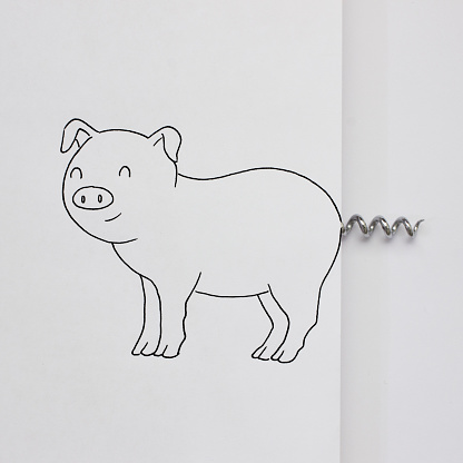 Illustration「Conceptual pig」:スマホ壁紙(10)