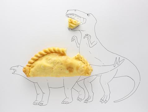Mixed Media「Conceptual t-rex attacking a stegosaurus」:スマホ壁紙(12)