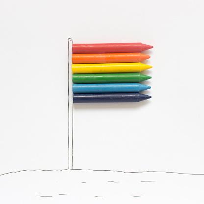Mixed Media「Conceptual rainbow flag」:スマホ壁紙(19)