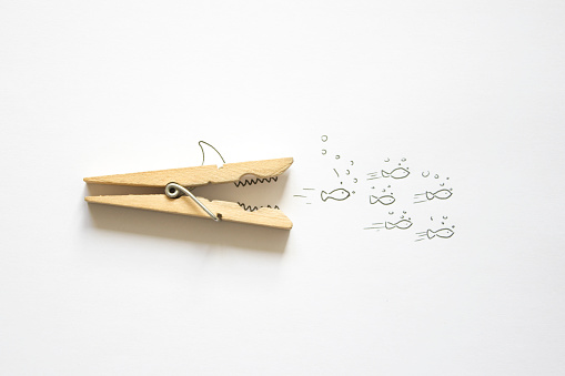 Animals Hunting「Conceptual shark hunting shoal of fish」:スマホ壁紙(13)