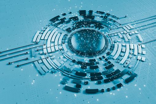 CPU「Conceptual image of supercomputer」:スマホ壁紙(16)