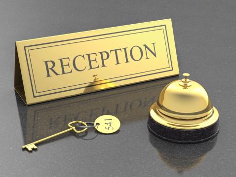 Hotel Reception「hotel reception, service bell and room key」:スマホ壁紙(9)