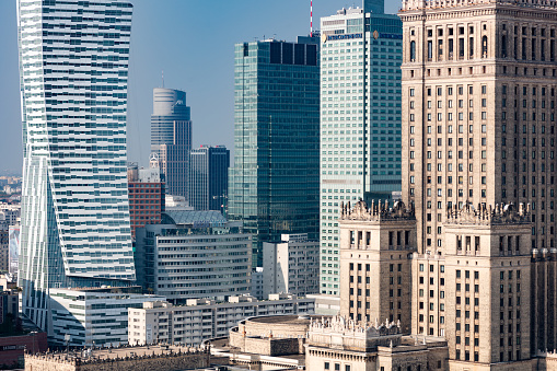 Warsaw「Warsaw's core skyscrapers - the modern and the old」:スマホ壁紙(17)