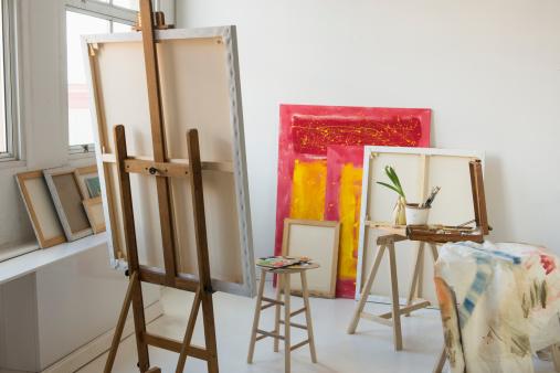 アート「Painter's studio」:スマホ壁紙(16)