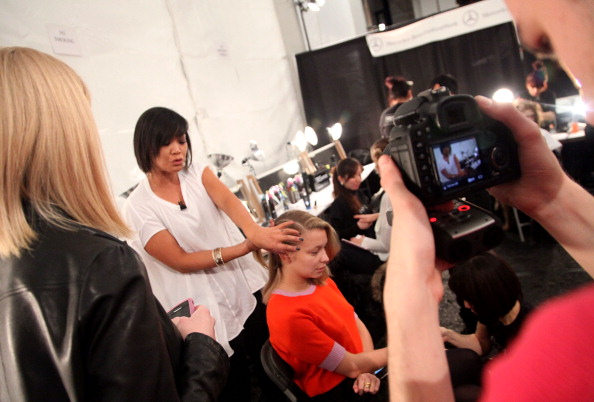 Annabelle Dexter Jones「TRESemme at Charlotte Ronson - Backstage - Fall 2011 Mercedes-Benz Fashion Week」:写真・画像(11)[壁紙.com]
