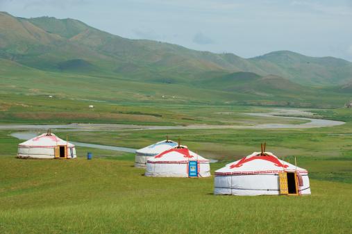 Orkhon Valley「Mongolia, Orkhon valley, tourist yurt camp.」:スマホ壁紙(17)